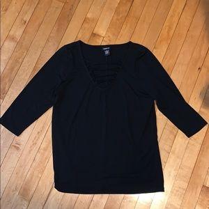 torrid Tops - Torrid Lace up Shirt